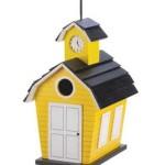 creative birdhouse yellow school