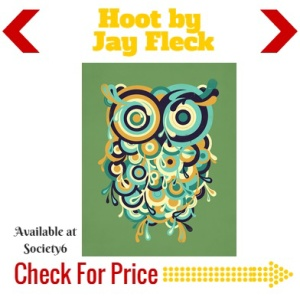 Hoot at society6 well art