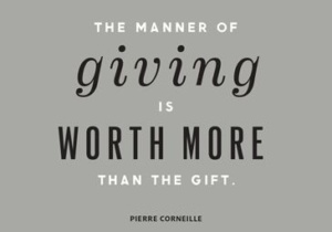 giving worth more