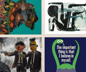 Society6 4 Piece Sample Collage Motif